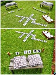 homemade outdoor games for kids. DIY Outdoor Scrabble-20 Summer Games For Kids Adults Homemade