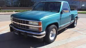 1991 Blue Chevrolet Silverado StepsideTruck Walkaround - YouTube