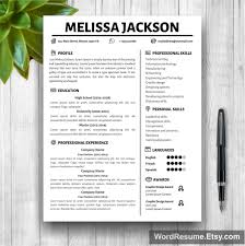 Resume Template For Microsoft Word Youtube