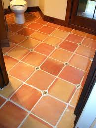 clay floor tile traditional tiles with a insert cut on site amazing natural color terracotta floor clay floor tile