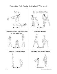 Free Kettlebell Workout Chart Free Printable Kettlebell Workout Chart Anotherhackedlife Com