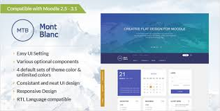 moodle templates awesome montblanc responsive moodle theme themes templates
