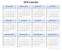 Week Number Calendar 2016 Calendar By Week Number Calendar Template 2019