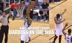 dabb dance. dab dance | karl-anthony towns celebrates an and-1 dunk with the dabbing dabb