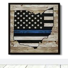 wooden state wall art state blue line flag decorative wooden wall art ohio state wood wall