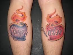 Sacred Heart With Kids Names Tattoo By Jon Poulson Flickr