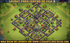 Layouts De Cv9 Clash Of Clans Clash Of Clans Dicas