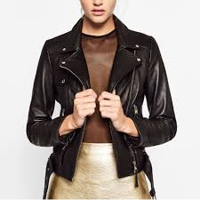 zara basic leather jacket