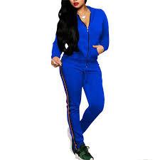 Womens Designer Sweat Suits Amazon Com Causal Long Sleeve Zip Up Sweatshirt And Long