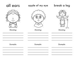 Idioms Tri Fold Freebie By Myacestraw Teachers Pay Teachers