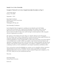 Cover Letter Examples For Internship Opening Paragraph It Is Your