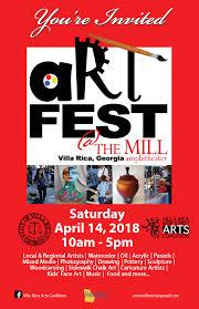 Art Event Flyer 2018 West Georgia Artfest Downtown Villa Rica