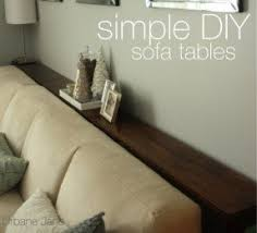Contemporary Sofa Table Behind Couch Diy Tables Must Remember To And Innovation Ideas