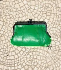 retro leather purse clip purse in soft bright