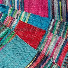 fair trade indian rag rug 3 x5 mexican style recycled 100