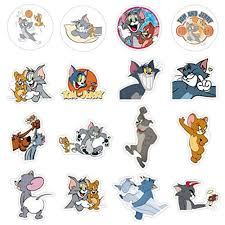 50Pcs Tom And Jerry Stickers For Water Bottle Cup Laptop Guitar Car  Motorcycle Bike Skateboard Luggage Box Vinyl Waterproof Graffiti Patches  XQX - Snapklik