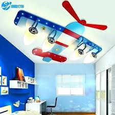 bedroom lamps boy lamp room ceiling light creative cartoon plane led eye boys lighting s edmonton
