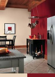 room paint red: bold but warm red paint brings life to a kitchen and is a sophisticated choice when combined with neutrals and sleek stainless steel appliances