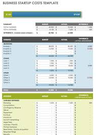 Startup Cost Template Free Startup Plan Budget Cost Templates Smartsheet