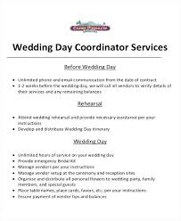 Free Wedding Planner Contract Templates Event Planner Sample Contract Wedding Example Planning Free