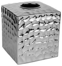 chrome crush tissue box cover transitional tissue box holders by taymor