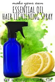 diy essential oil hair lightening spray recipe