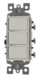 leviton 1755 w light switch decora three rocker combo switch regular price 19 99