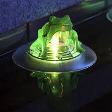 Solar Powered Frogs Garden Decor New Outdoor Animals Home Figurine Solar Frog Lights