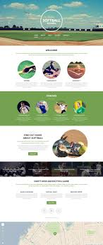 Baseball Websites Templates Sports Web Template 54699