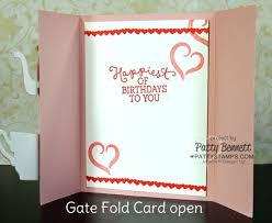 fold card fancy folds blog hop gate fold card patty s stamping spot