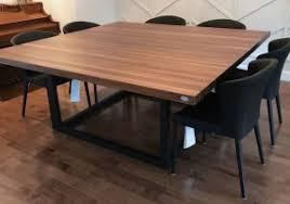 Table De Cuisine En Noyer Noir En Bois Design Dintérieur