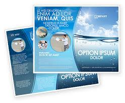 two sided flyer template free double sided brochure template free double sided water wave brochure