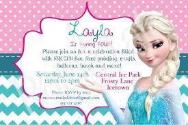 Frozen Birthday Party Invitations Wording Princess