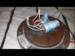 ceiling fan capacitor connection