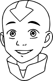 Small Picture Draw Aang Step Last Avatar Aang Coloring Page Wecoloringpage