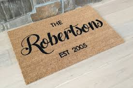 Personalized Doormat Custom Door Mats Wedding Mat ...