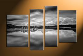 piece canvas ocean black and white wall art