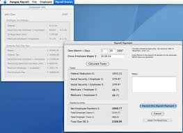 Calculate Payroll Taxes Free Pangea Payroll 1 02 For The Mac A Free Payroll Tax Calculator