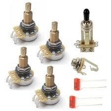 guitar wiring diagrams resources guitarelectronics com gibson guitar electronics kit w cts pro pots long shaft