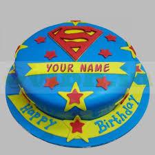Superman Fondant Cake Design Delicious Superman Fondant Cake
