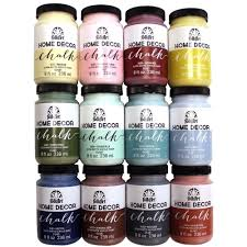 Small Picture FolkArt Home Decor 8 oz 12 Color Ultra Matte Chalk Finish Paint