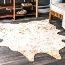 faux cow hide rug contemporary animal prints cowhide x 5 deer faux cow hide rug