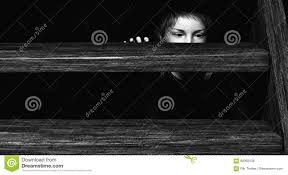 dark basement stairs. Child Hiding Under Stairs Dark Basement