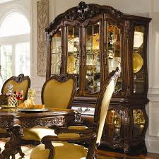 Michael Amini Palais Royale China Cabinet with Beveled Glass Doors ...