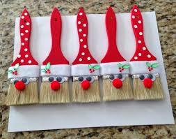 santa paintbrushes decoration