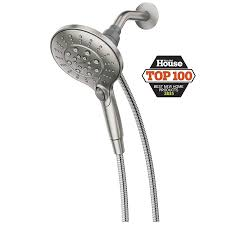 moen engage with magnetix spot resist brushed nickel 6 spray handheld shower
