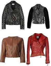 women s biker style metal stud leather jackets 2016