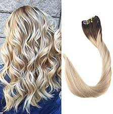 Full Shine 18 inch Balayage Remy Real Human Hair ... - Amazon.com