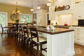 kitchen island bar ideas with wood countertops