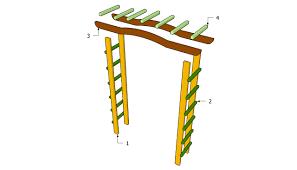 how to build a simple garden arbor